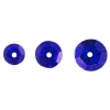 Sequins Round 6/8/10mm Hologram Cobalt Blue